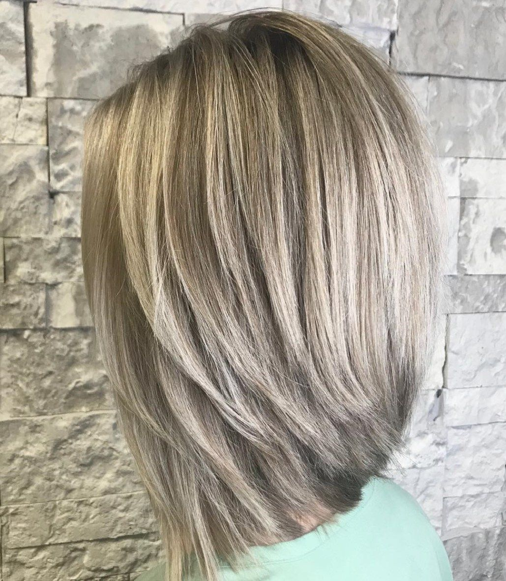 Straight Thick Inverted Lob Inverted Long Bob Bob Hairstyles Long Bob Hairstyles
