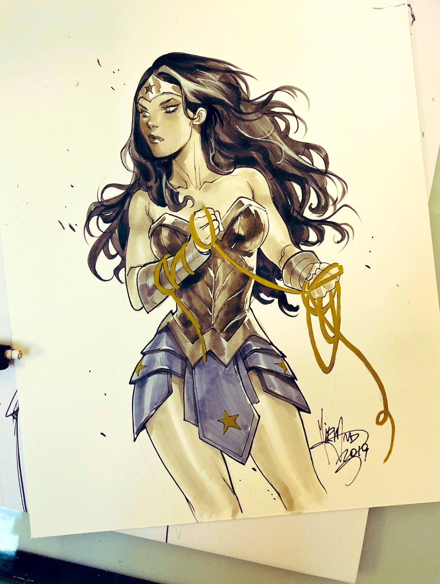 [Artwork] Wonder Woman by Mirka Andolfo Wonder woman, Dc