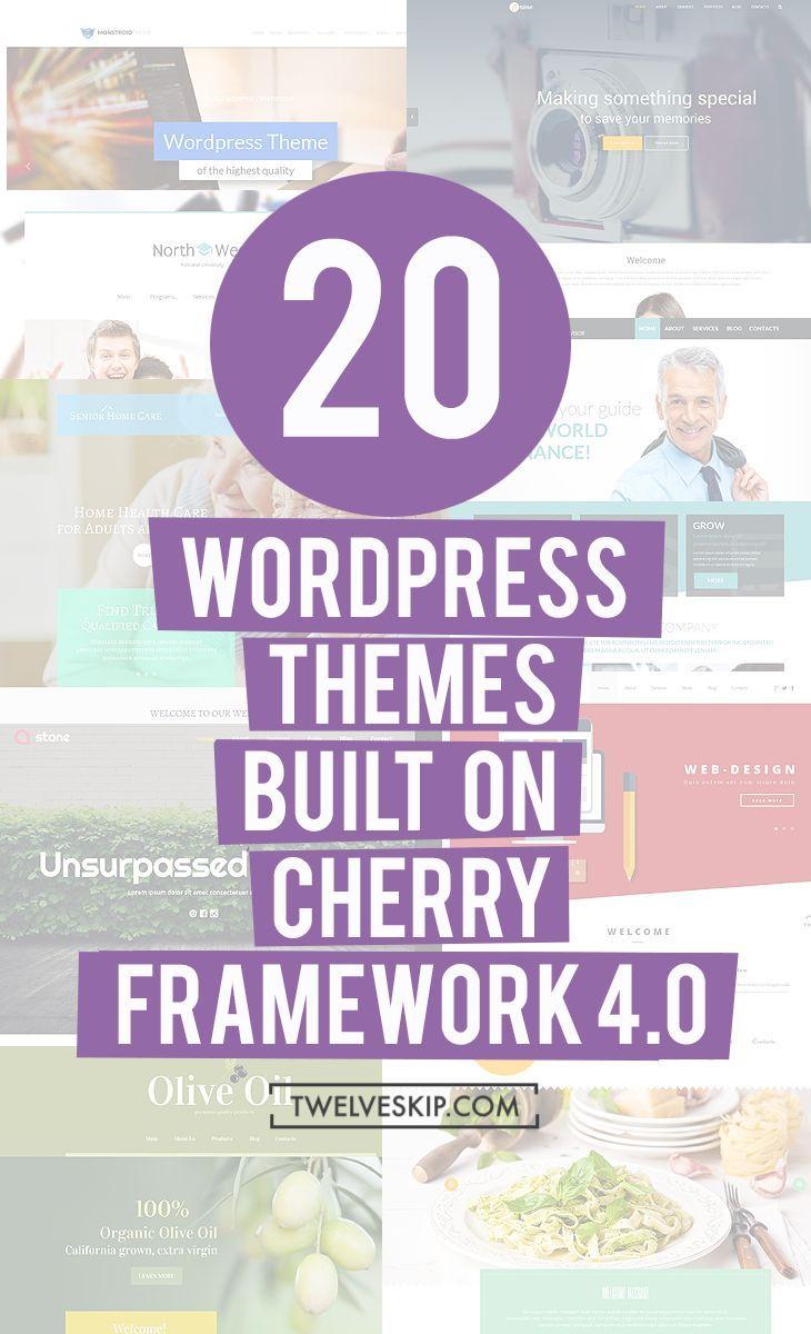 20 Beautiful Wordpress Themes Built On Cherry Framework 4.0 ...