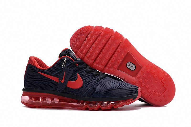 watch b4b11 333ed Men's Nike Air Max 2017 Shoes Navy/Crimson 849560-405 ...