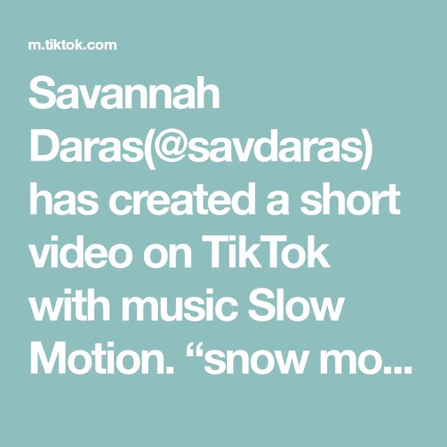 "Savannah Daras(@savdaras) has created a short video on TikTok with music Slow Motion. ""snow motion"" 😏❄️✨🌀 #slowmo #twerck #slowmochallenge #snowing #winter #bluehair #fyp #foryou"