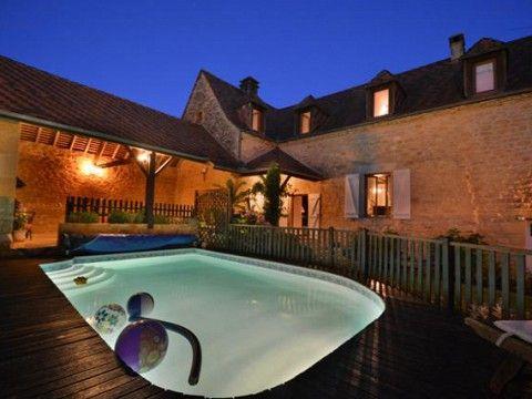 Location Gîte Dordogne Avec Piscine à Veyrignac Près De Sarlat, Périgord