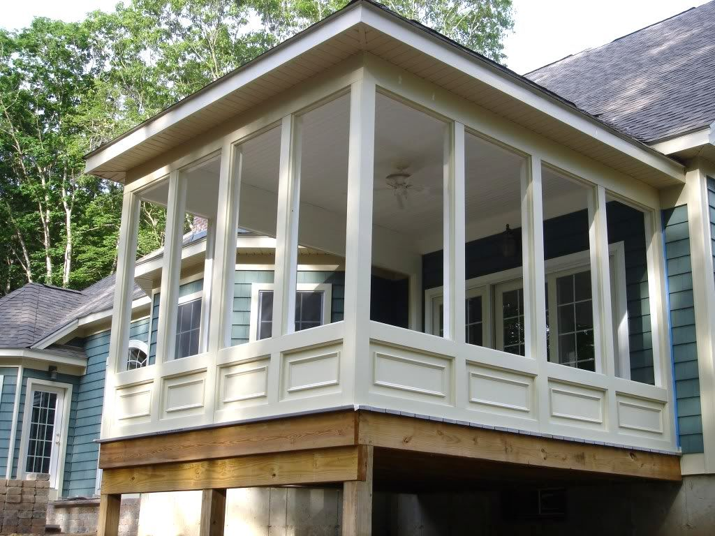 Screen porch ideas for patio decorating ideas awesome screen porch ideas with sloping roof and Screened porch plans designs