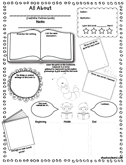 Book Report Outline For 3rd Graders | Lynuz  Book Report Template Grade 2