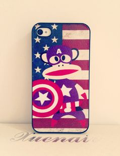 Flag mouth monkey sticker skin iPhone 44s phone iPhone 4 Apple mobile phone shell