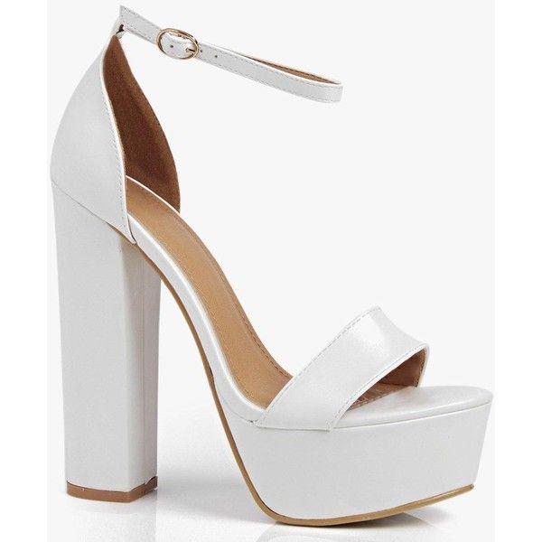 sandals heels, White block heel sandals