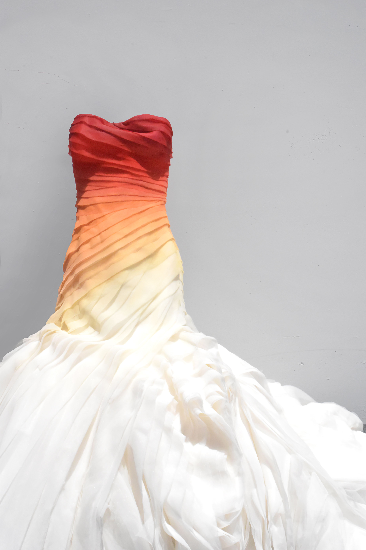Red Orange Yellow Wedding Dress Dress On Fire Alternative Bridal Painted Wedding Gown Ombre Ombre Wedding Dress Orange Dress Wedding Dye Wedding Dress [ 6000 x 4000 Pixel ]