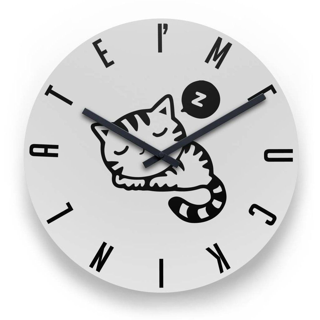 I M F Ckin Late Cat 11 Round Wall Clock 29 95 Cat Catlover Kittens Mainecoon Cats Cutecat Kitten Kitties Kitty Round Wall Clocks Clock Wall Clock