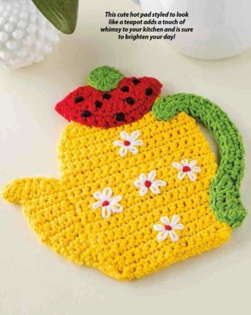 Crochet PATTERN ONLY Teatime Hot Pad Pattern