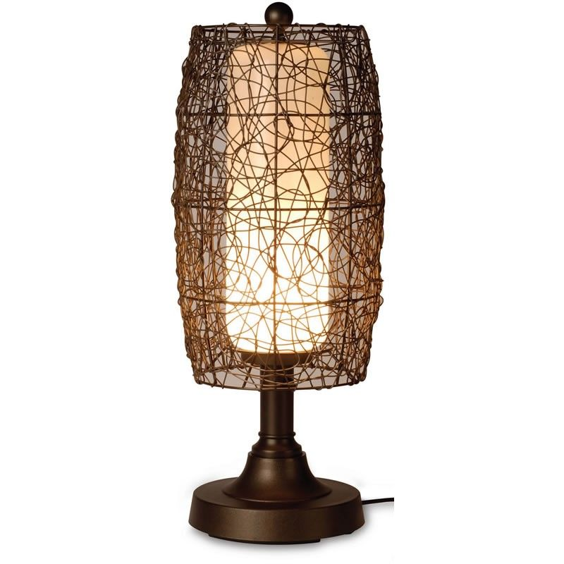 Wicker table lamps home decor pinterest wicker table and patios wicker table lamps aloadofball Choice Image