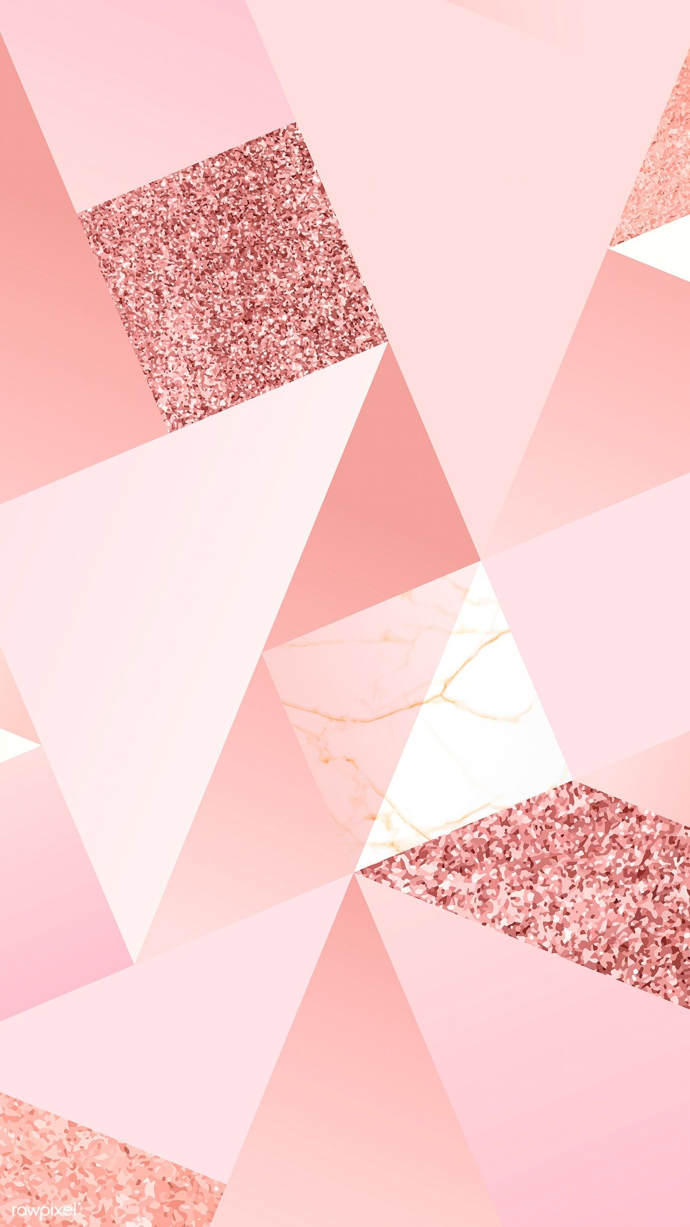 Pink feminine geometric background vector free image by