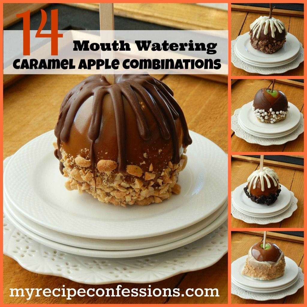 14 Mouth Watering Caramel Apple Flavor Combinations #caramelapples