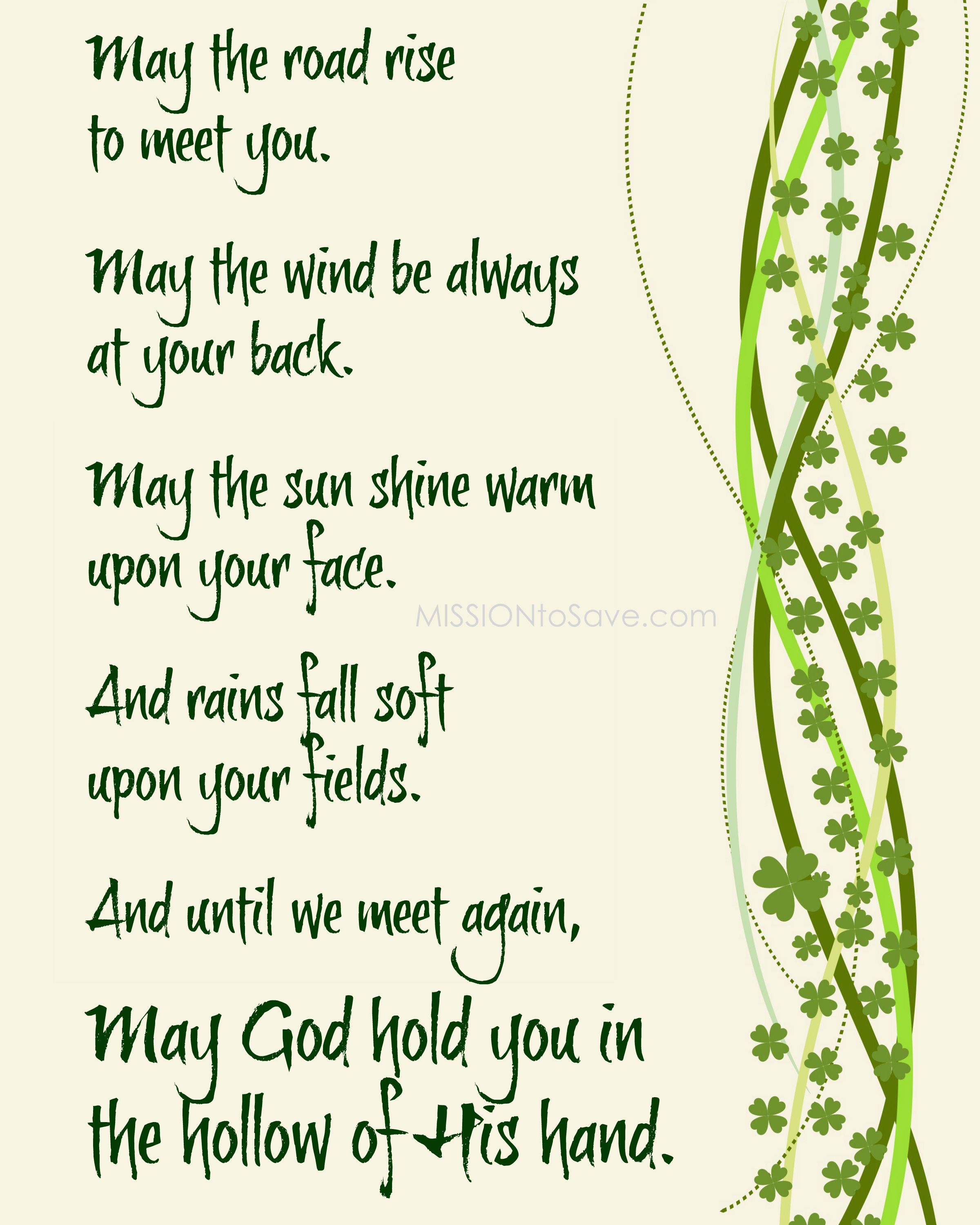 photograph regarding Printable Irish Blessing called Pin upon St. Patricks Working day Tips