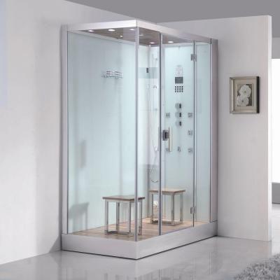 Ariel 59 In X 35 4 89 2 Steam Shower Enclosure Kit White Dz961f8w R The Home Depot