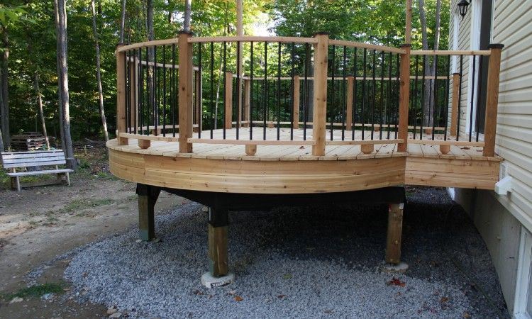 Should You Put Gravel Under A Deck Here S The Answer In 2020 Deck Designs Backyard Gazebo On Deck Curved Deck