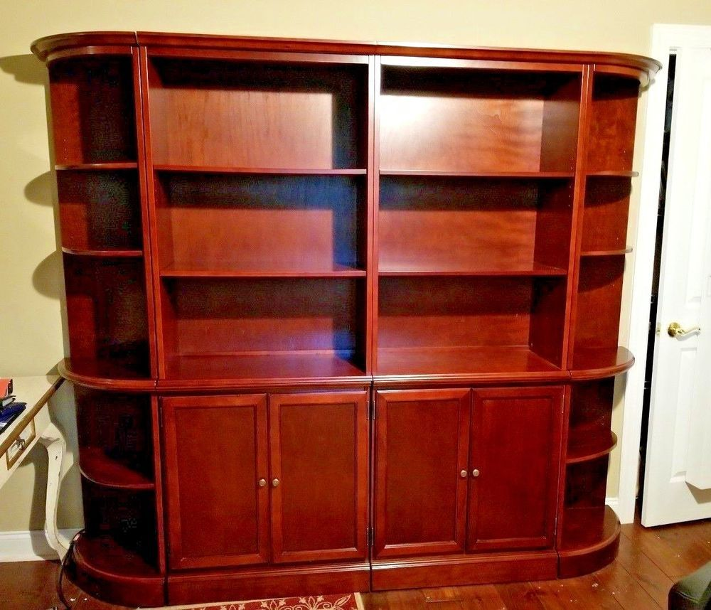 Bombay Company Double Bookcase Cabinet With End Shelves