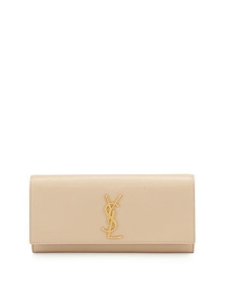 76f4125779b SAINT LAURENT Cassandre Calfskin Clutch Bag, Nude, Neutral. #saintlaurent # bags #lining #clutch #suede #hand bags #