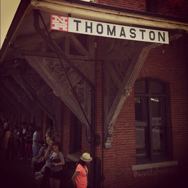 Thomaston Train Station. This is how the train station looks in 2012. Now, this historic landmark is the headquarters for the Naugatuck Railroad and The Railroad Museum of New England. The museum offers scenic train rides in restored vintage 1920s coaches, along the Naugatuck River, passes the Thomaston Dam, massive brass mills, and the Mattatuck Forest, photo by Wanda J. Barreto