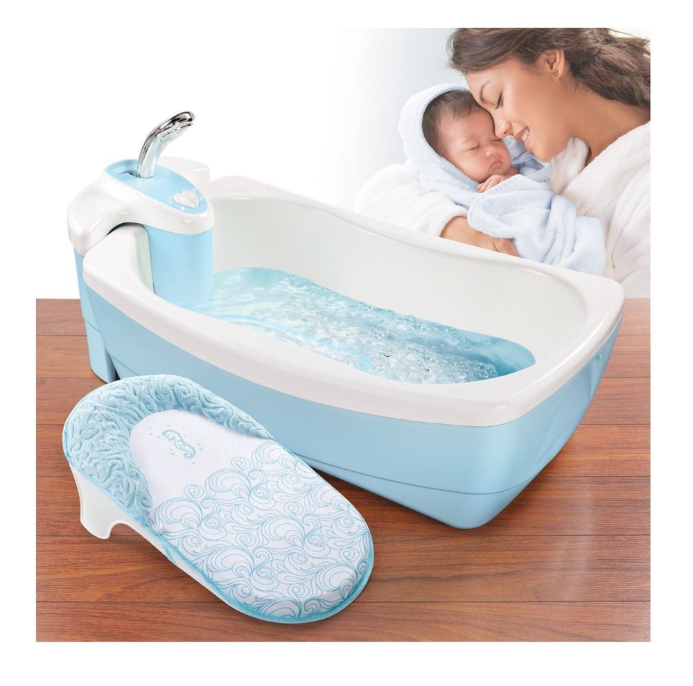 Baby Bubble Bath Tub Infant Fun Spa Kids Water Time Jet Spray ...