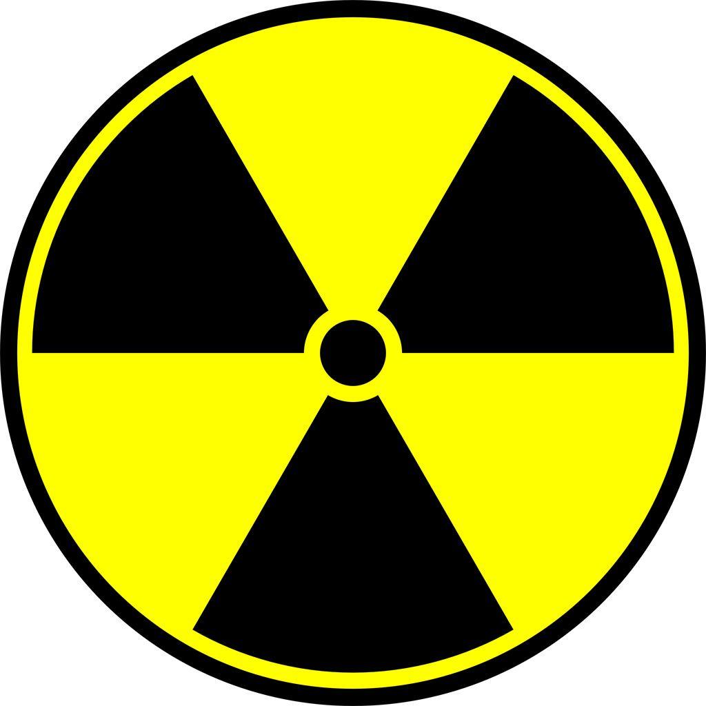 [フリーイラスト素材] クリップアート, 記号 / シンボル / マーク, 原子力, 原子力発電 / 原発, 放射能, 黄色 / イエロー ID:201310102300