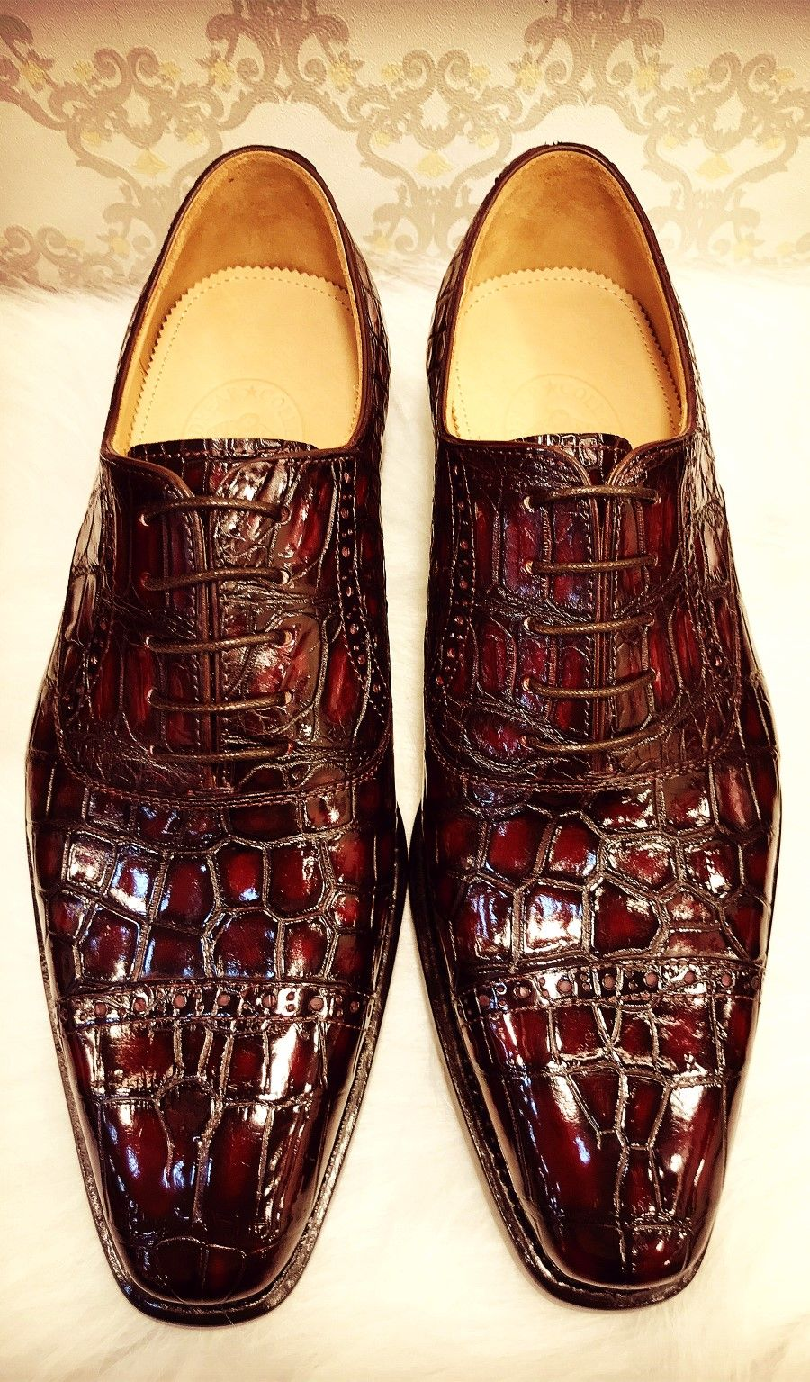 ce0c7ac0d5 Mens alligator leather shoes for sale Sapatos Masculinos