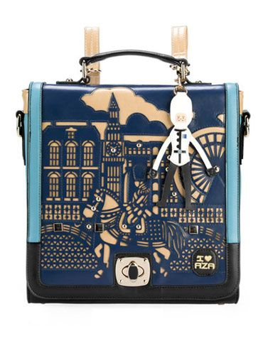 092d1ce1fed 28.50 Women Vintage Style Laser Cutting Details Two Tone Backpack - Item  697627 at Eastclothes.com