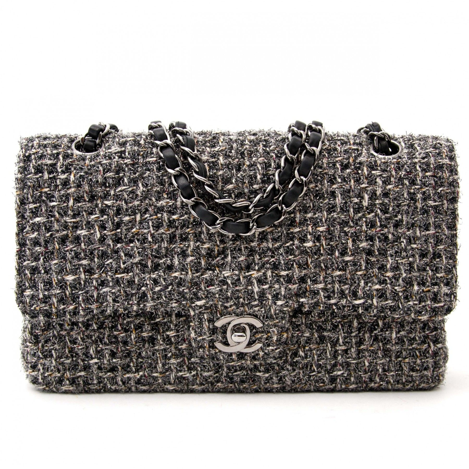 bd2bacbe8f8c Labellov Chanel Tinsel Tweed Classic Flap Bag ○ Buy and Sell Authentic  Luxury