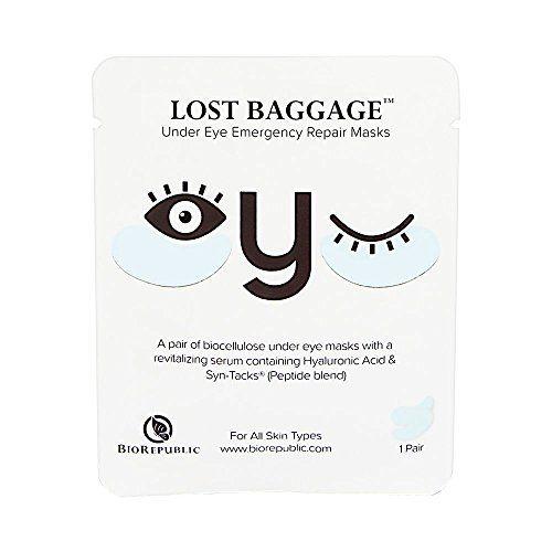 BioRepublic SkinCare - Lost Baggage Eye Emergency Repair Masks - 1 Pair FDIT 3Colors Electric Waterproof Silicone Facial Cleansing Brush Skin Cleanser Face Massager , Face Massager Brush, Electric Face Brush