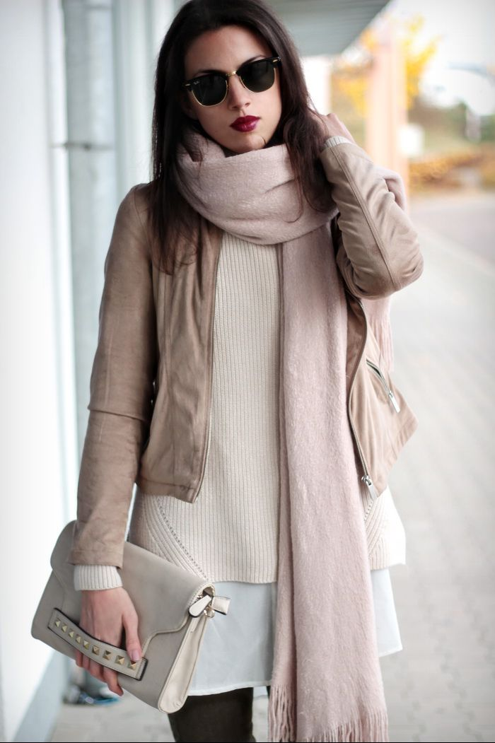 Beige Suede Jacke Outfit