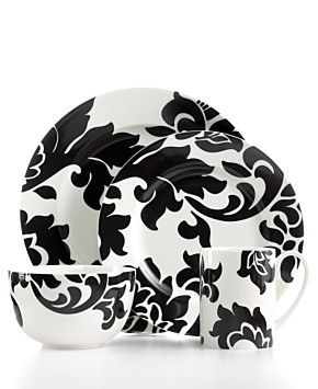 Martha Stewart for Macy's. Damask dinnerware.