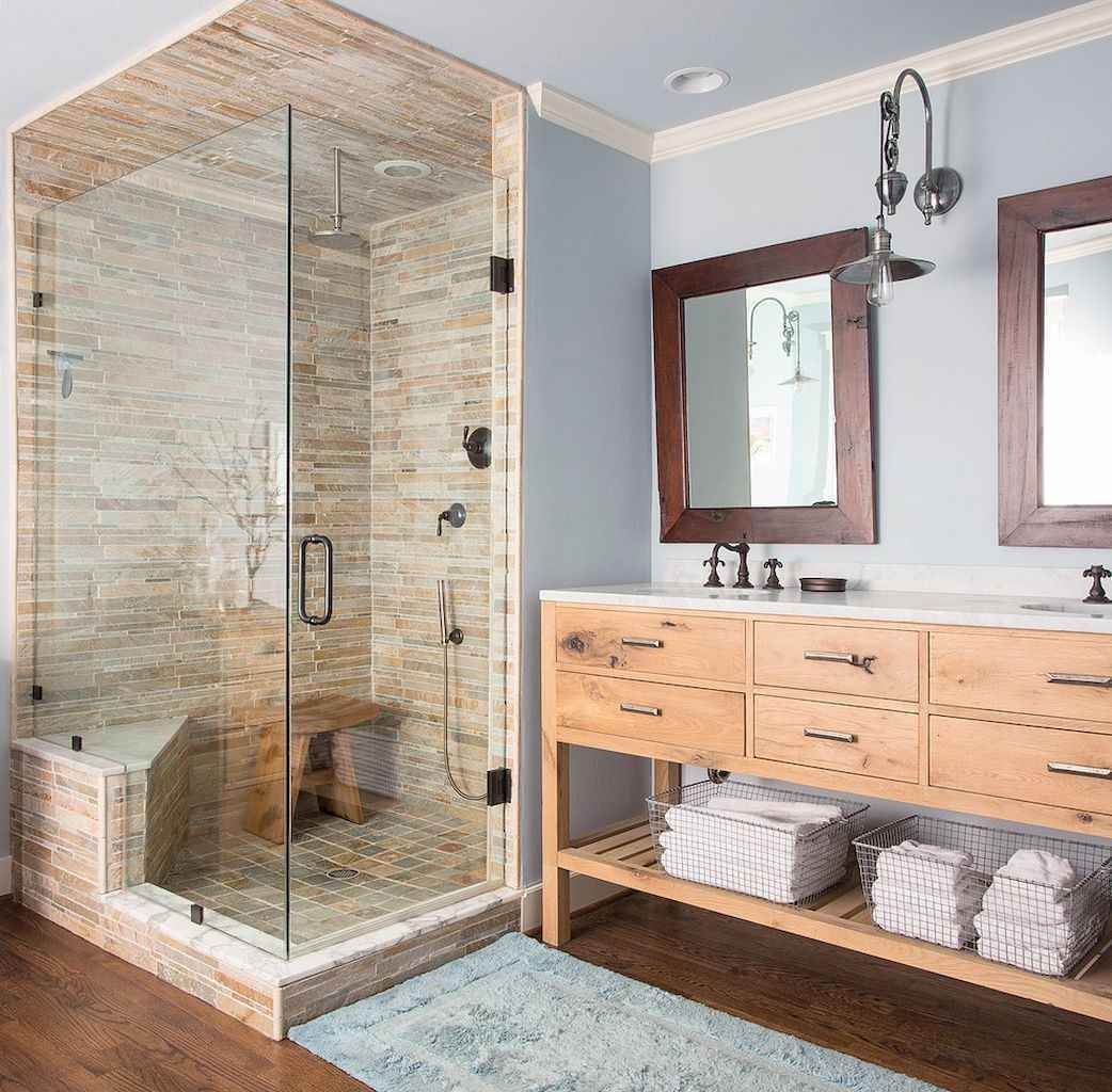 60 Rustic Master Bathroom Remodel Ideas Page 9 Of 63 Chaka Decor In 2020 Rustic Bathroom Designs Rustic Bathrooms Rustic Master Bathroom