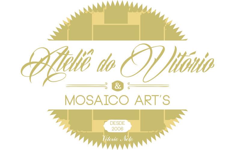 Criação, branding e design de logotipo para o Ateliê do Vitório - Mosaicos & Art - Goiânia-GO.