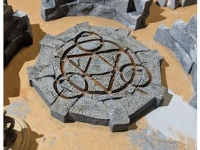 Fantasy Wargame Terrain - Teleport/Summoning Circles by sablebadger