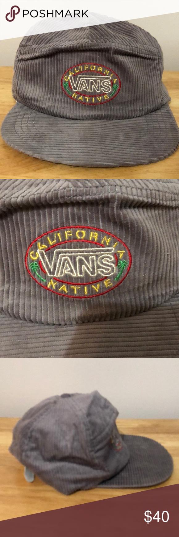 Vintage Vans California Native Corduroy Hat Vintage Vans Corduroy Hat Vans California