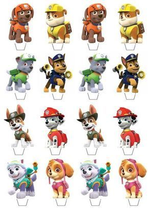 Details about Paw Patrol Edible Wafer Cup Cake Toppers Standing or Disc PW1 - Paw patrol cupcake toppers, Paw patrol cupcakes, Paw patrol decorations, Paw patrol cake toppers, Paw patrol birthday cake, Paw patrol printables -