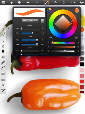 SketchBook Pro App. For the full details check out
