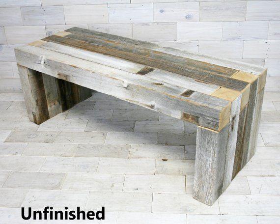 Awe Inspiring Barn Wood Box Joint Bench Coffee Table Multiple Sizes Creativecarmelina Interior Chair Design Creativecarmelinacom
