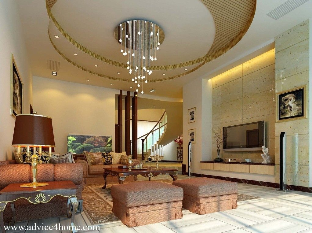 ceiling design in living room shows more than enough about how to decorate a room - Home Ceilings Designs