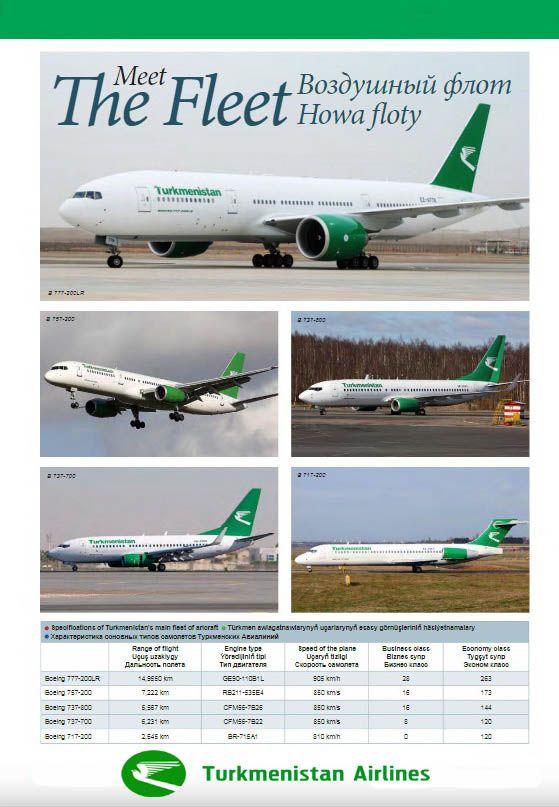 Turkmenistan airlines fleet 2018   AirLine fleets   Commercial