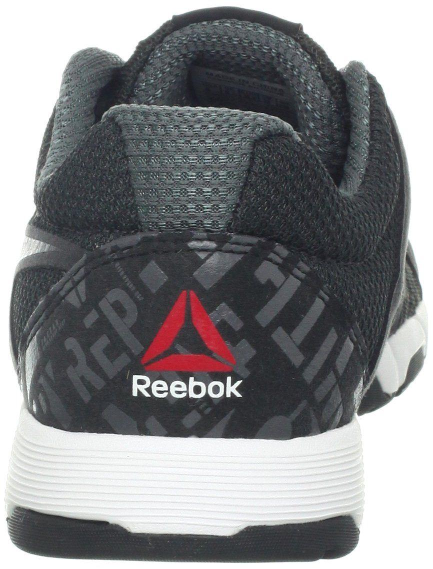 df6172e87a408a Reebok Womens One Trainer 1.0 CrossTraining ShoeRivet Grey Gravel White  Black Excellent