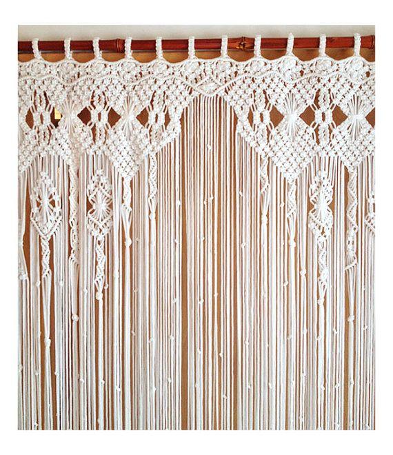 Macrame Curtain, Large Macrame, Macrame Fiber Art, Macrame