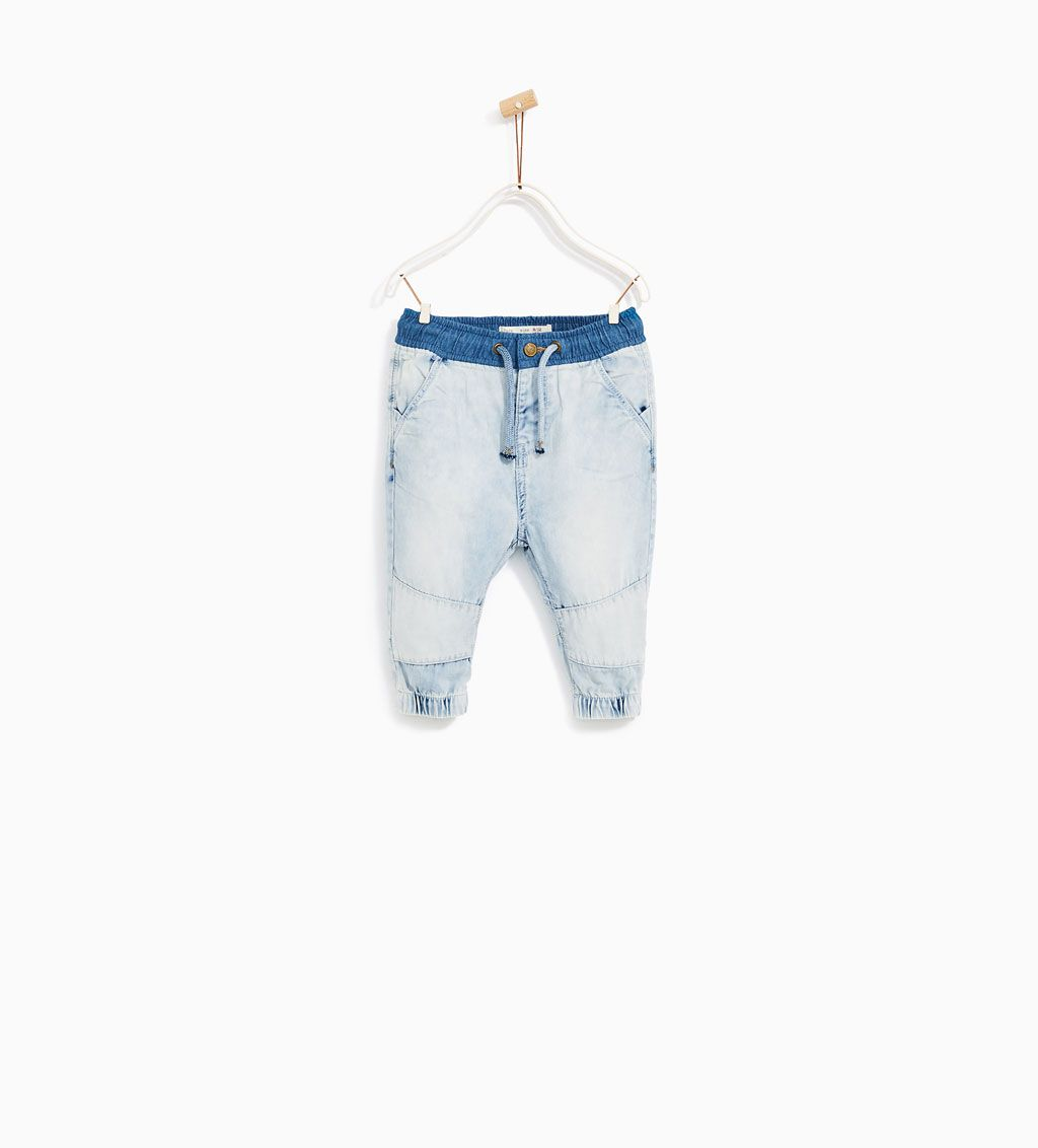 5db933ab DENIM JOGGER TROUSERS-JEANS-BABY BOY | 3 months - 4 years-KIDS | ZARA  United States