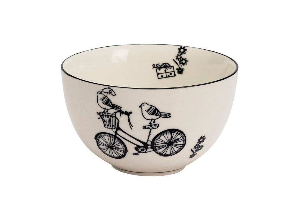 Birds on a Bicycle Breakfast Bowl