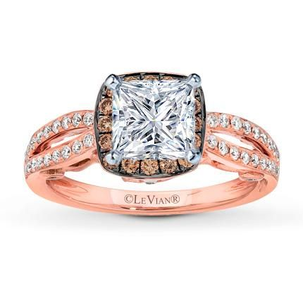Levian Chocolate Diamond Rose Gold Ring Rose Gold Engagement