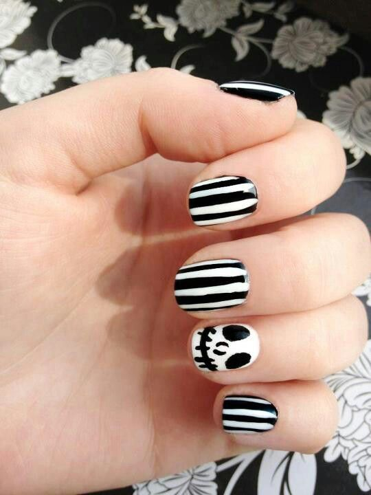 Jack skeleton night mare before Christmas nails (With ...