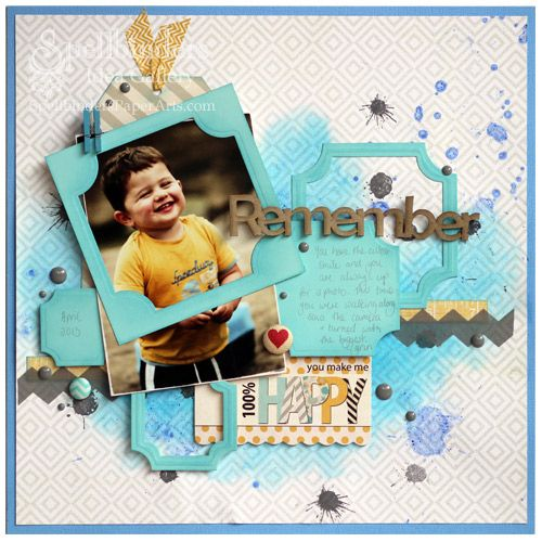 View Idea Gallery Projects | Spellbinders - Remember Scrapbook Page