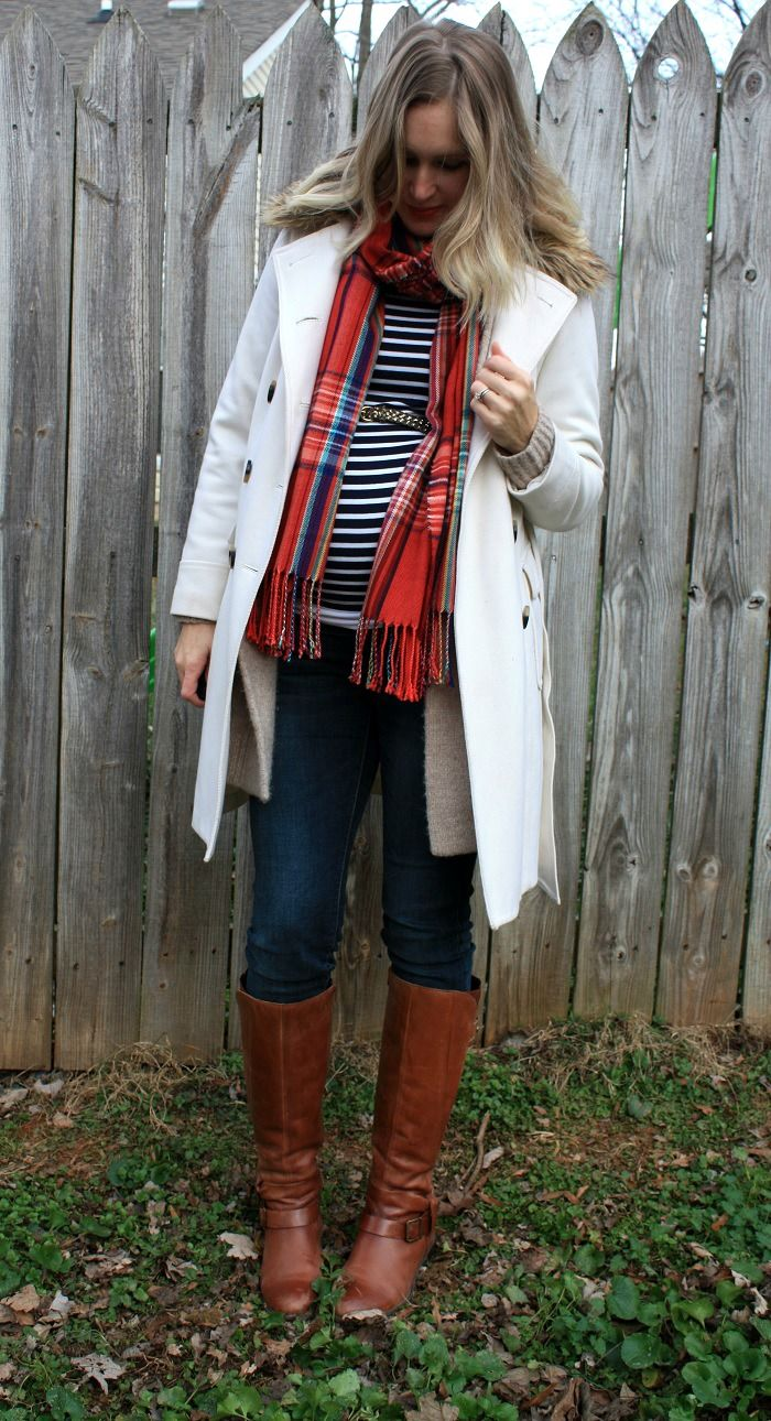 Maternity Christmas Outfit.Maternity Outfit For Christmas Day Layering Scarf