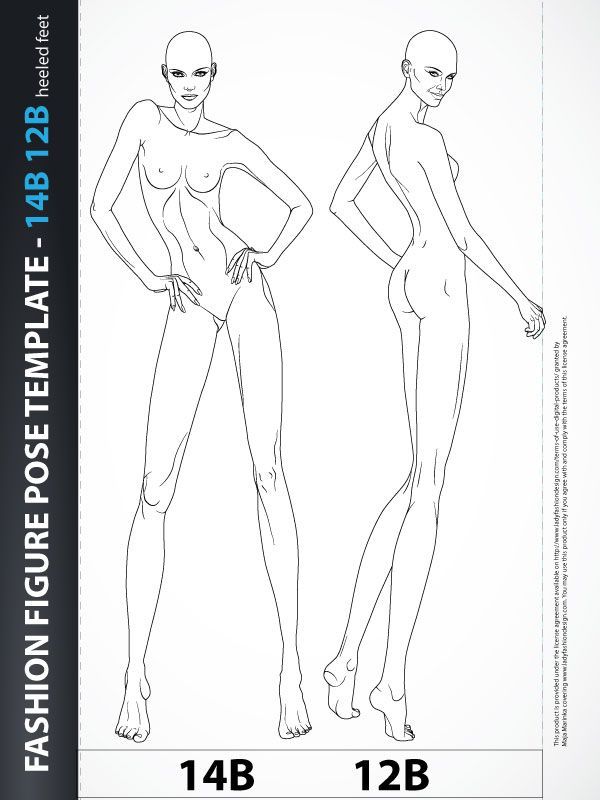 fashion figure template croquis poses of fashion