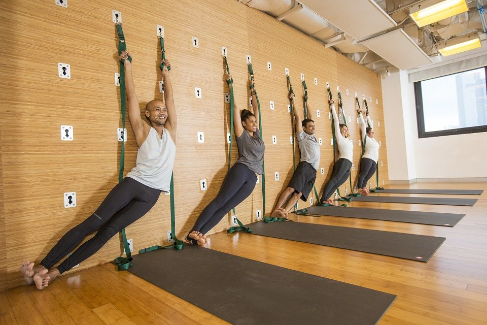 Pure Yoga Launches Pure Air And Wall Rope Yoga Classes Wall Yoga Pure Yoga Yoga Rope