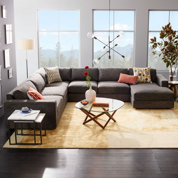 Urban 4 Piece Chaise Sectional In 2019 Living Room
